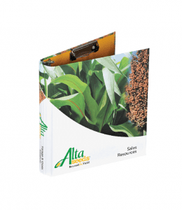 Round back binder for Alta Seed with binder clip