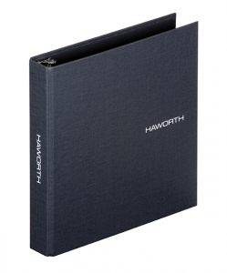 Classic cloth binder with foil stamping for Haworth