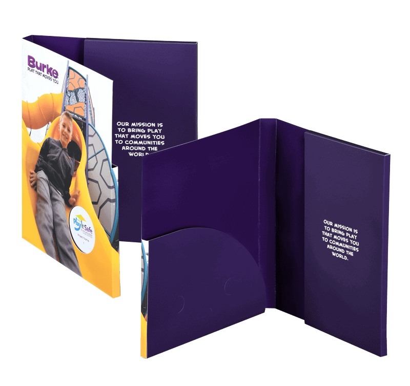 Sustainable 3-ring binder graphics